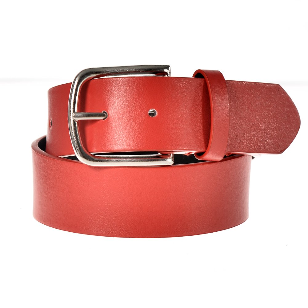 Sunny Belt Unisex Kids 1 1/2 Wide Faux Leather Matte Solid Color Belt