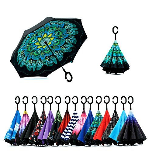 Inverted Umbrella C Shaped Waterproof Windproof product image