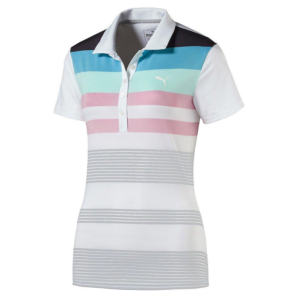 Puma Golf para Mujer W Hoja de Ruta Polo, Mujer, Bright White ...