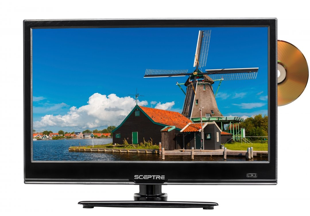 SCEPTRE E165BD-S 16'' Class HD 720P LED TV with Built-in DVD