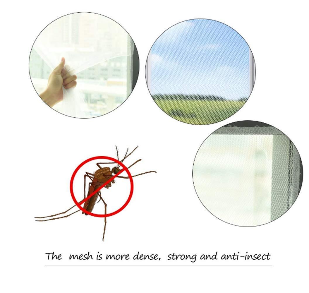 Geagodelia 4 PCS Moustiquaire Fen/être avec 4 Auto-Rubans Adh/ésifs Contre Insectes Moustiques Fly Bug Mosquito Protection D/écran en Maille Filet 200X150CM