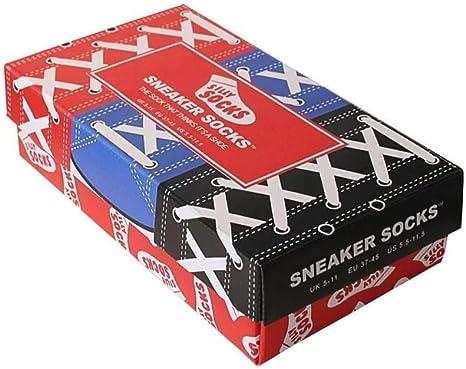 Sneaker Socken blau Silly Socks in Turnschuh Optik Sportsocken Strümpfe Unisex