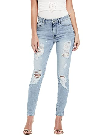69572ce5767 Guess Junior s 1981 Skinny Jean with Foil Splatter