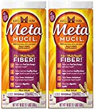 Metamucil coarse Milled Original Texture Unflavored, 19 oz, 2 Pack
