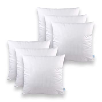 Sleeb Füllkissen 50x50 Cm 6 Stück Reißverschluss Waschbar Weiß Kissen Füllung Kissen Inlett Innen Kissen