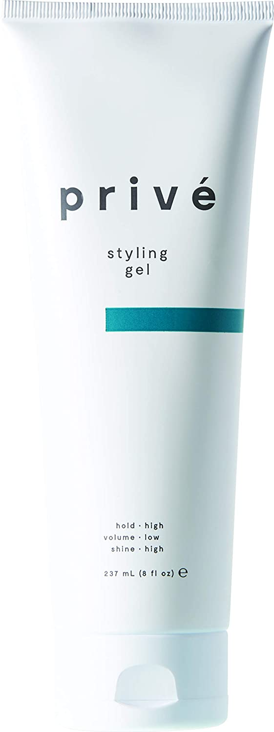 Privé Styling Gel (8 Fluid Ounces / 237 Milliliters) - Styling Gel to Add Hold and Shine to Your Hair Without Product Buildup