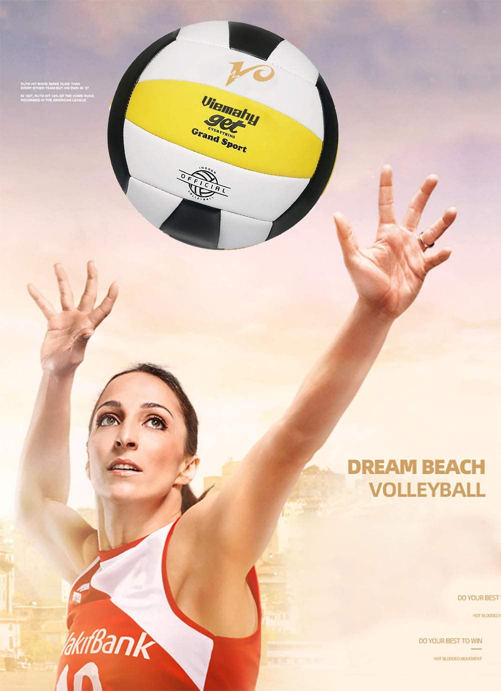 Premium Volleyball Xmas Day(、 Gift for Birthday Waterproof Indoor//Outdoor Official Volleyball for Boys//Girls