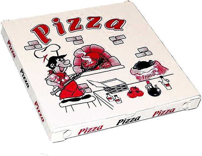 100 X Caja Box Pizza CM 33 X 33 Hecho EN Caja ECOLÓGICA para Ideal Comida para Llevar Pizza Y ALIMENTACIÓN: Amazon.es: Hogar