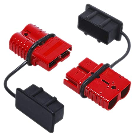 Refaxi 2Pcs 175A Car Battery Quick Connect Disconnect Winch Connector 0 1 2 Gauge Cable