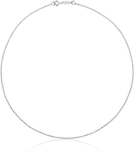 TOUS Collar cadena Mujer en plata de primera Ley, Ancho 0,14 cm, Largo 40 cm