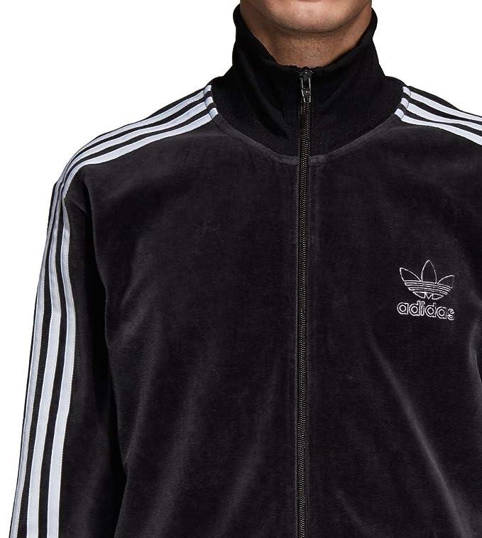 adidas Originals Men's Velour BB Track Top Black Large