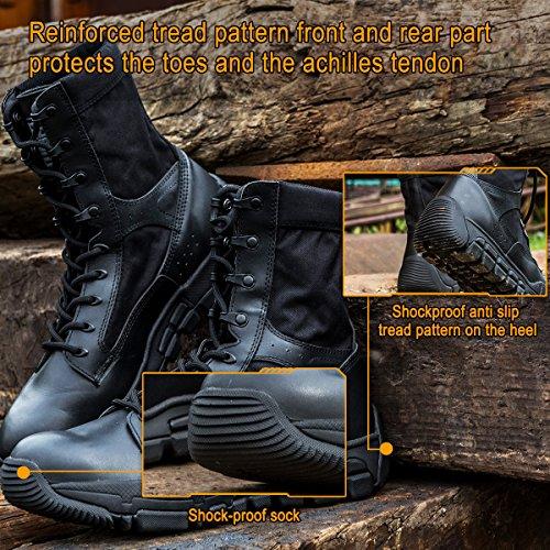 SOLDIER Combattimento Lavoro FREE Uomo Tactical Del Nero da Militare Deserto Patrol Stivali Scarpe Escursionismo dTWC41nW