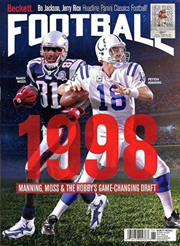 Beckett Football Price Guide Magazine May 2018 Randy Moss & Peyton Manning