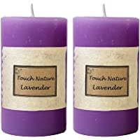 Touch Nature Lavender Essential Oil Scented Aromatherapy Fragrant Purple Handmade Candle. Hand Poured Rustic Home Décor…
