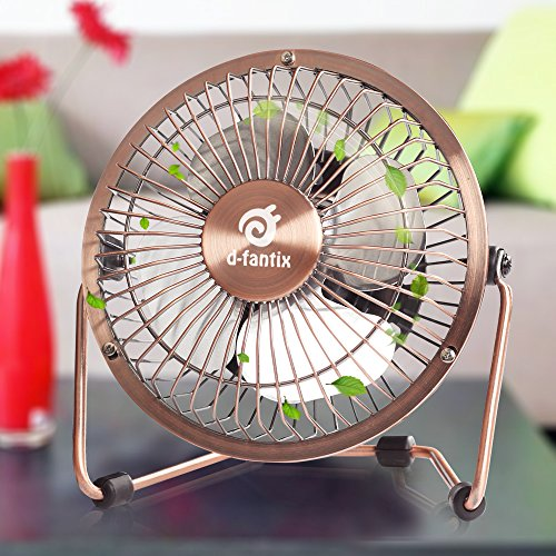 Little Desk Fan : D fantix small usb desk fan quiet inch antique metal