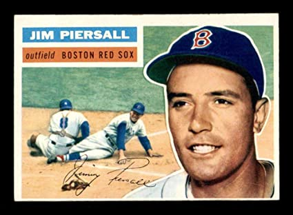 143 Jim Piersall 1956 Topps White Back Baseball Cards