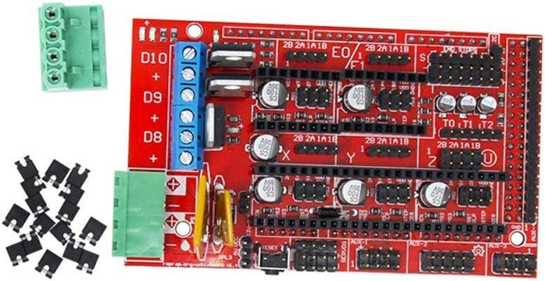 MXLTiandao 1.4 Pieza del Panel de la Placa de Control Placa Base Impresoras 3D Piezas Protector Rojo Negro Controles Rampas1.4 Placas Accesorios Científico Industrial