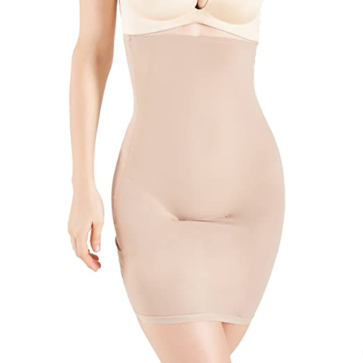 85df2415abd MUKATU Women s Invisible High Waist Shaping Panty Slimming Control Skirt  Half Slip Shapewear for Under Dresses
