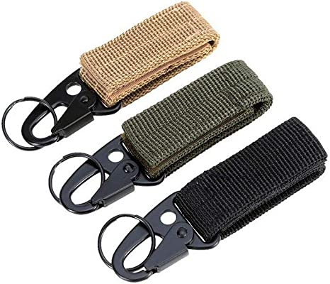 UPGRADE Nylon Key Hook Tactical Molle Hanging Belt Carabiner Webbing Buckle Clip