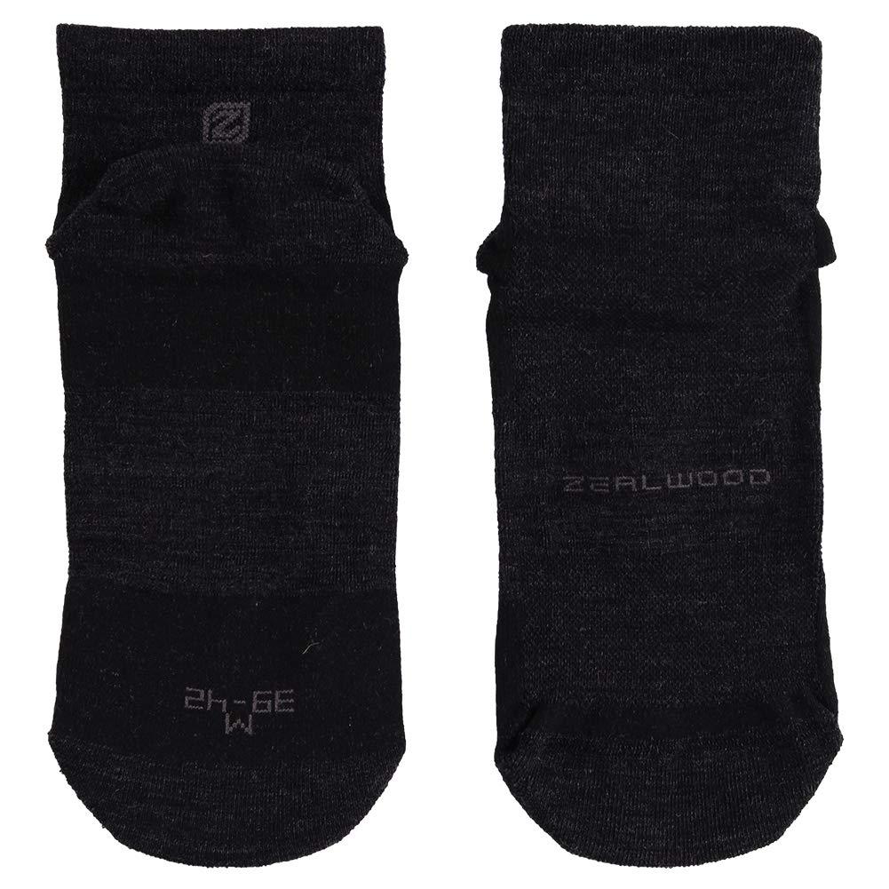 Low Cut Running Socks, ZEALWOOD Women Merino Wool Antibacterial Socks Ultra-Comfortable Cycling Training Socks Anti-Blister Moisture Wicking Socks,3 Pairs-Black,Small by ZEALWOOD (Image #5)