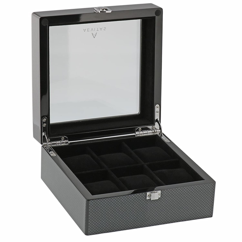 Kohlenstoff-Faser-Uhr-Collectors Box fÜr 6 Armbanduhren von Aevitas