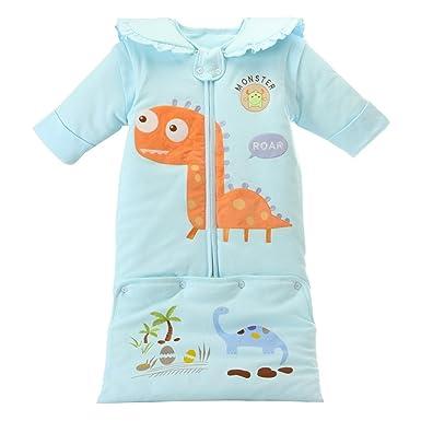 daec6265d5051 Evedaily Enfant Bébé Fille Garçon 2 en 1 Pyjama Grenouillères Combinaison  Sac de Couchage Imprimé en