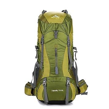 UK 60L Extra Large Nylon Camping Backpack Travel Hiking Rucksack Luggage Bag