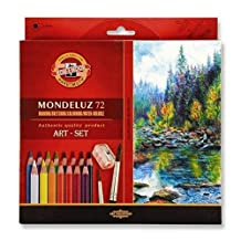 Koh-I-Noor Hardtmuth MONDELUZ 72, Set of Aquarell Color Pencils, 72pcs
