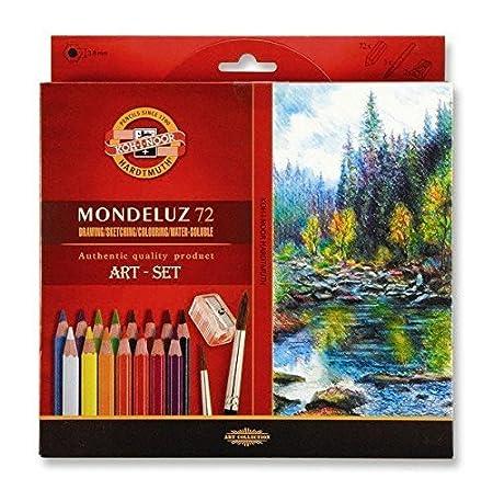 Koh I Noor Mondeluz Aquarell Drawing Set. 72 Colored Pencils. by Koh I Noor Hardtmuth