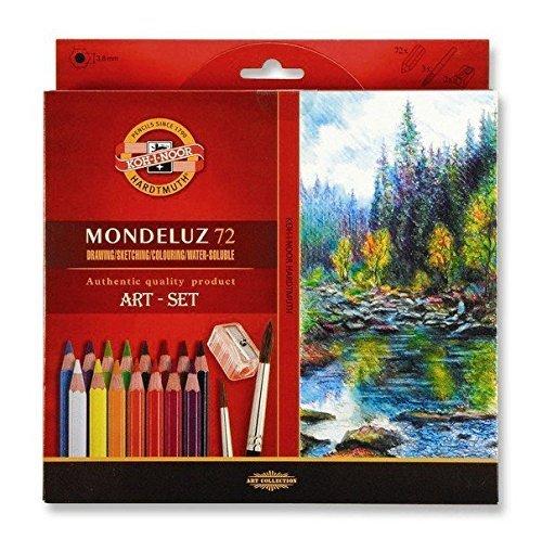 Koh-i-noor Mondeluz Aquarell Drawing Set. 72 Colored Pencils.