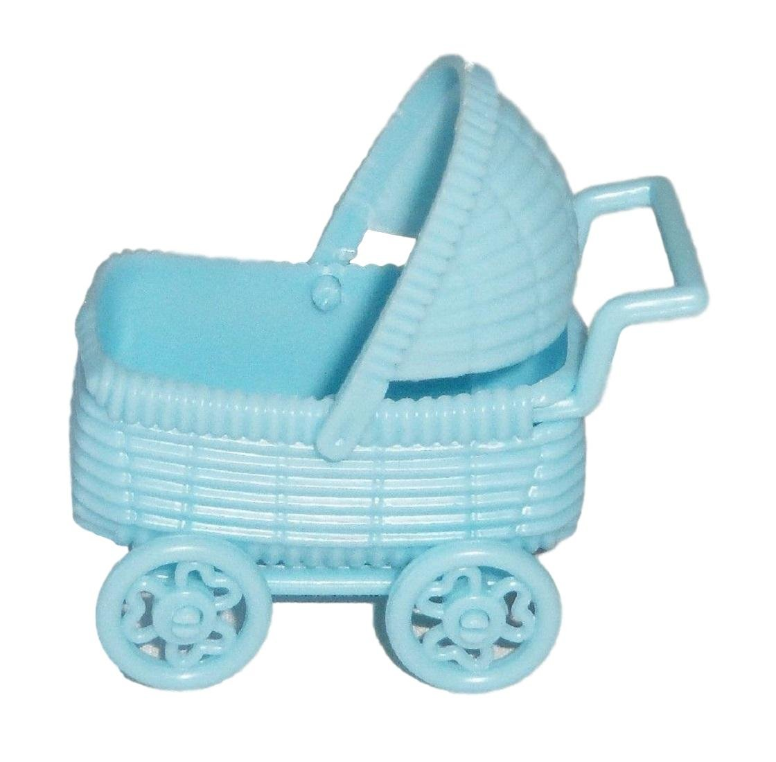 Amazoncom 12 Plastic Buggy Carriage Baby Shower Favor Blue