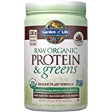 Garden of Life Raw Organic Protein & Greens Chocolate - 20 Servings, Vegan Protein Powder for Women and Men, Juiced Greens an