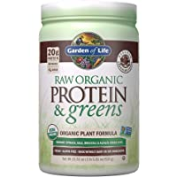 Garden of Life Raw Organic Protein & Greens Chocolate - 20 Servings, Vegan Protein Powder For Women And Men, Juiced…