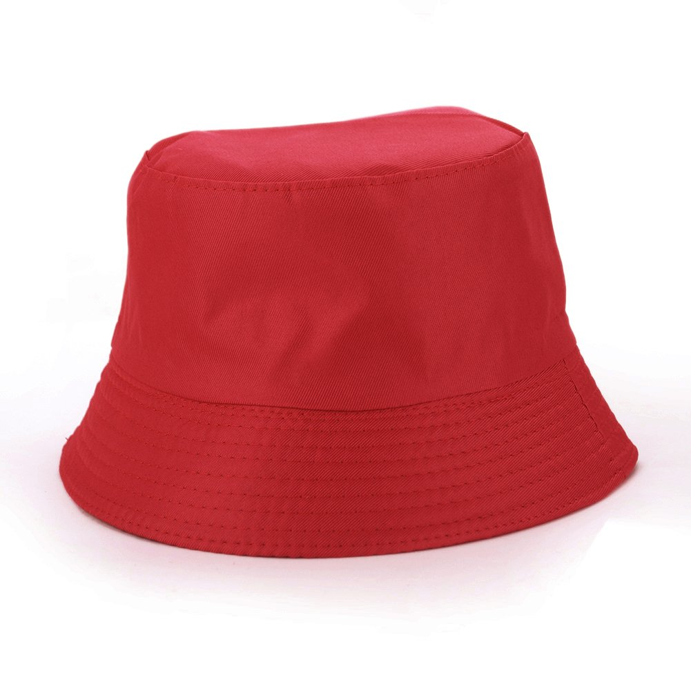 Opromo Unisex Reversible Cotton Bucket Hat Sun Outdoor Fishing Hat Fisherman Cap Plaid Inside One Size Fits All - Beige 6CAP-BO0009_BEIGE