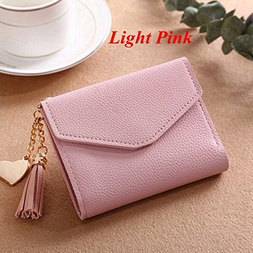 Meapann Clutch Heart Pendant Tassel Card Holder Mini Wallet Handbag Coin (Photo Clutch Album)