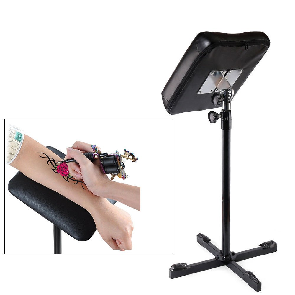 Tattoo Armrest, Cross Arm Rest Tattoo Leg Soft Sponge Pad Arm rest Tripod Stand Portable Tattoo Leg with Adjustable Height for Studio Salon Tattoo by CAKMSMAO
