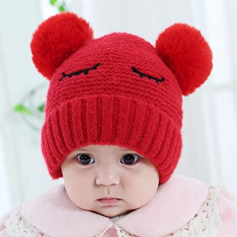 f963b20d Amazon.com: Myzixuan Baby hat Fall Winter Baby Knitted Sweater Cap Kids hat:  Garden & Outdoor