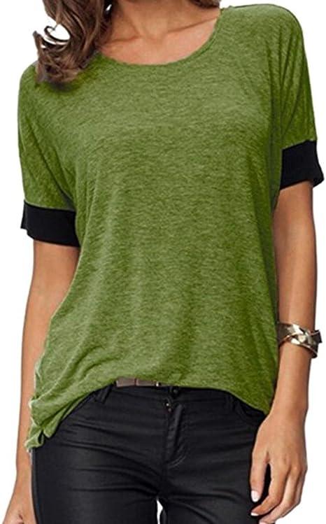 xinxinyu – Camiseta de mujer, Cuello Redondo Top} {passen ...