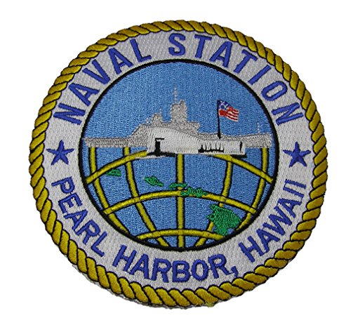 NAVAL STATION PEARL HARBOR HAWAII Round Patch - Color - Veteran Owned Business.