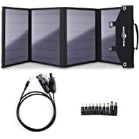 Rockpals 100W Foldable Solar Panel Charger for Suaoki Portable Generator / 8mm Goal Zero Yeti Power Station/Jackery Explorer 240, Webetop Battery Pack/USB Devices, with 3 USB Ports