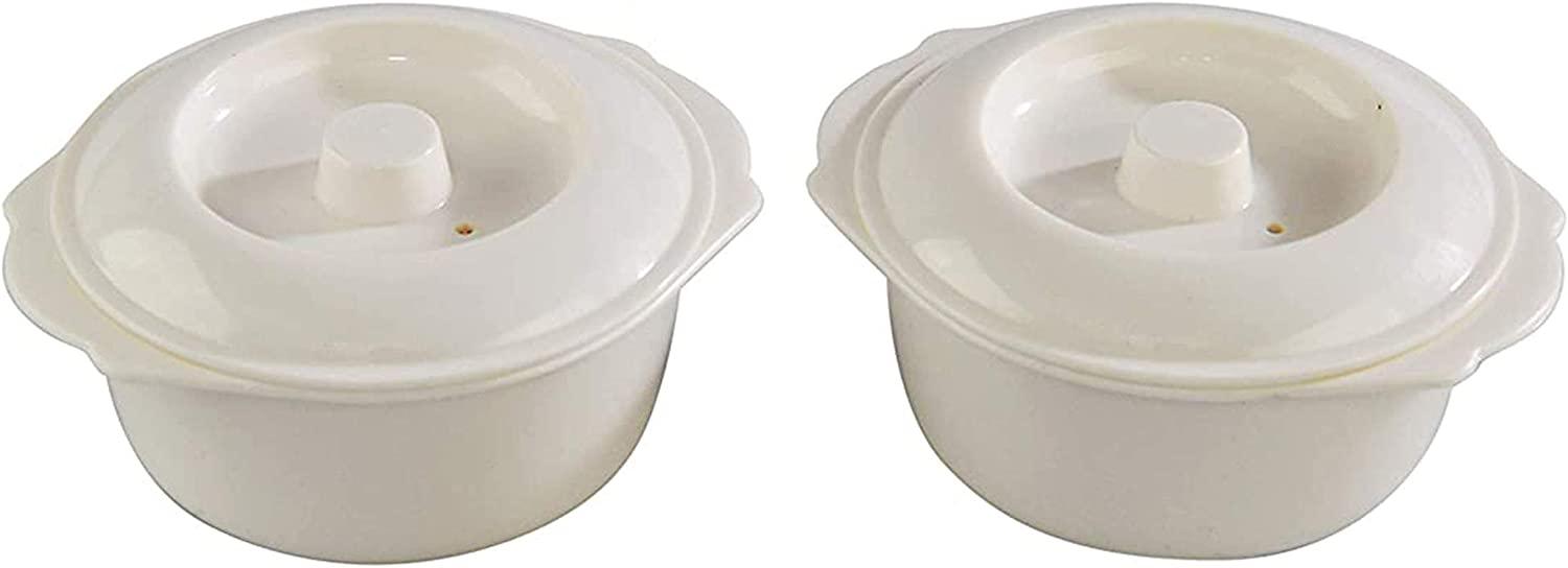 HOME-X Mini Sized Microwave Bowls with Lid, 8 oz Microwave Soup Bowls for Noodles, Soup, Cereals, Fruits, BPA Free Dishwasher Safe-Set of 2
