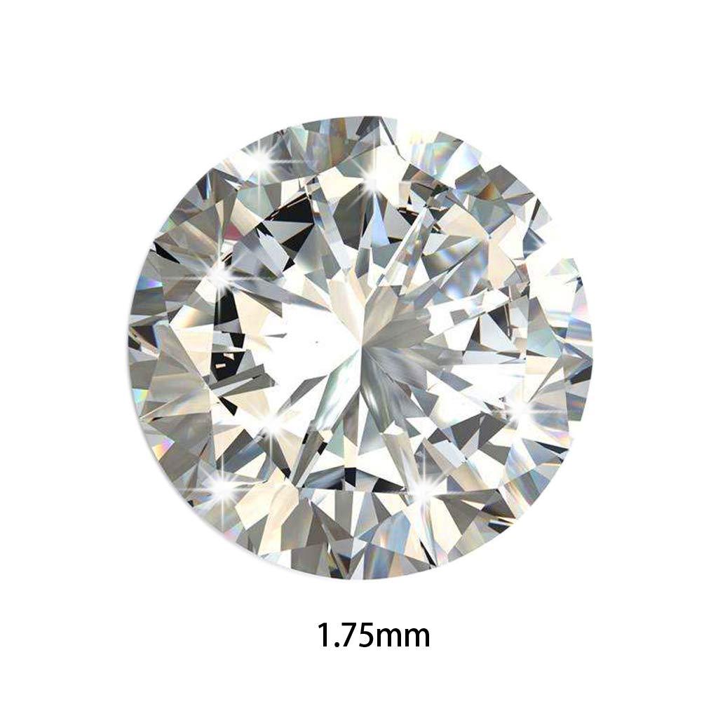 Lamdoo 1000pcs 1.0–3mm 5d'une Machine Ronde Cut Oxyde de Zirconium Blanc–Pierre Courroie Pierres de zircone, Sparkly White, 1 MM