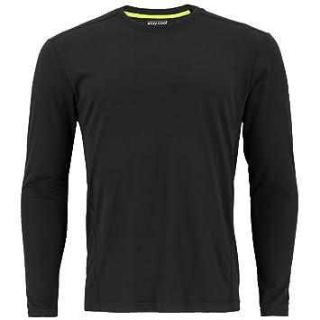 adidas Men's Baselayer Climalite UPF Long-Sleeve Crew Top, Black, Small