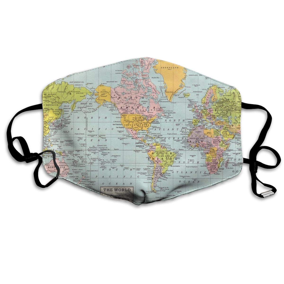 Amazon World Map Vintage Mask Can Be Washed Reusable