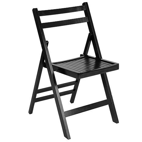 Amazon.com: KCHEX> Juego de 4 sillas plegables de madera ...