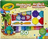 Crayola Modeling Clay Deluxe Kit; Art Tools; 50 Pieces; Soft, Pliable Clay Won't Dry Out