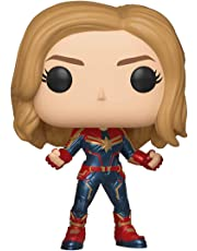 Funko 36341 POP Bobble Captain Marvel w/Chase, Multi color [Styles May Vary]