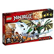 LEGO Ninjago 70593 The Green NRG Dragon Building Kit (567-Piece)