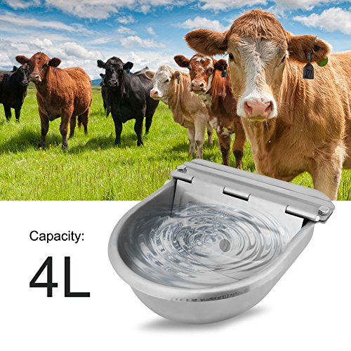 Cocoarm Stainless Steel Automatic Waterer Bowl with Float Valve Water Trough for Horse Cattle Goat Sheep Pig Dog by Cocoarm (Image #6)