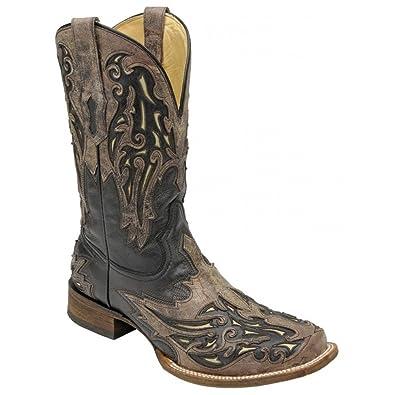09f7d0d4513e9 Corral Men's Square Toe Cowboy Boots